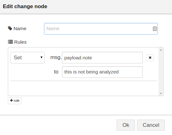 Node-RED: Lecture 3 – Example 3 3 Using a change node to